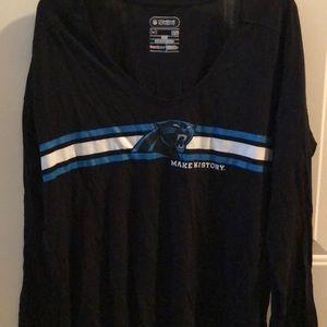 Under Armour Carolina Panthers long sleeve tee.